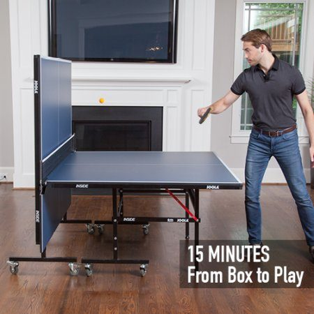 Playing Table Tennis On Joola Inside Table