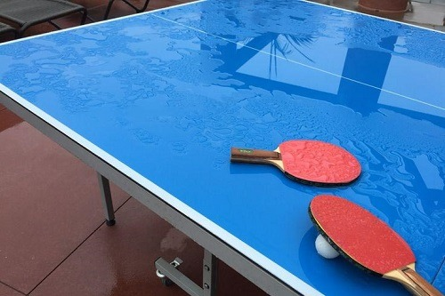Rackets On JOOLA NOVA DX Table Tennis Table
